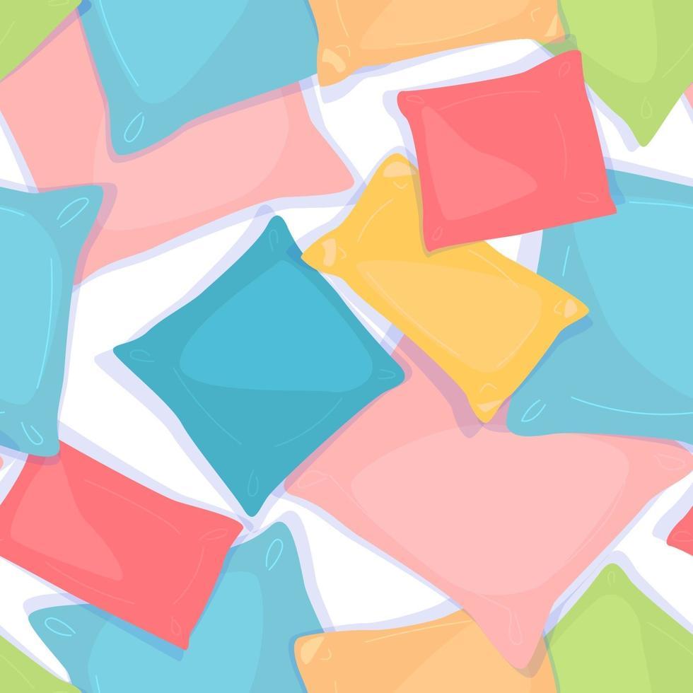 kuddar sömlösa mönster. färg geometrisk struktur. dekorationselement. materialdesign. tyg, textilbakgrund. coolt mönster. platt vektorillustration på vit bakgrund. vektor