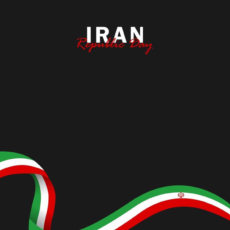 vektor av republikens dag med iranska flaggor. firandet av iranska republikens dag.