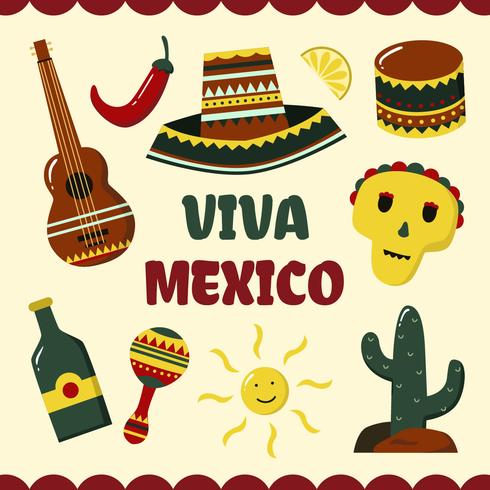 Viva Mexiko Hintergrund Vektor