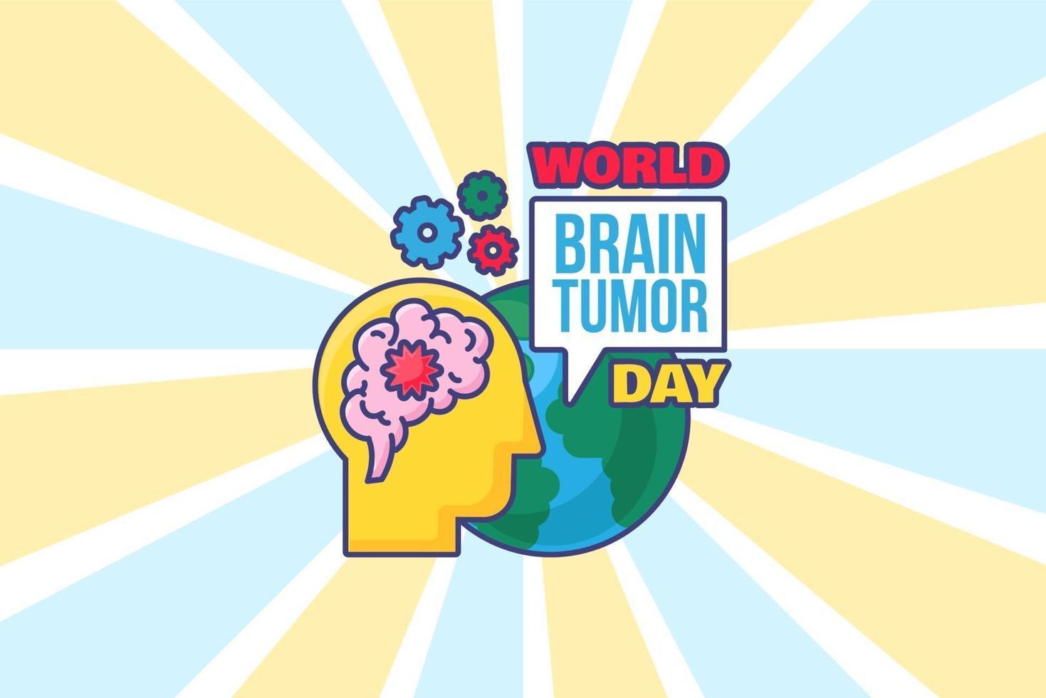 värld hjärntumör dag bakgrund för affisch, kort vektor