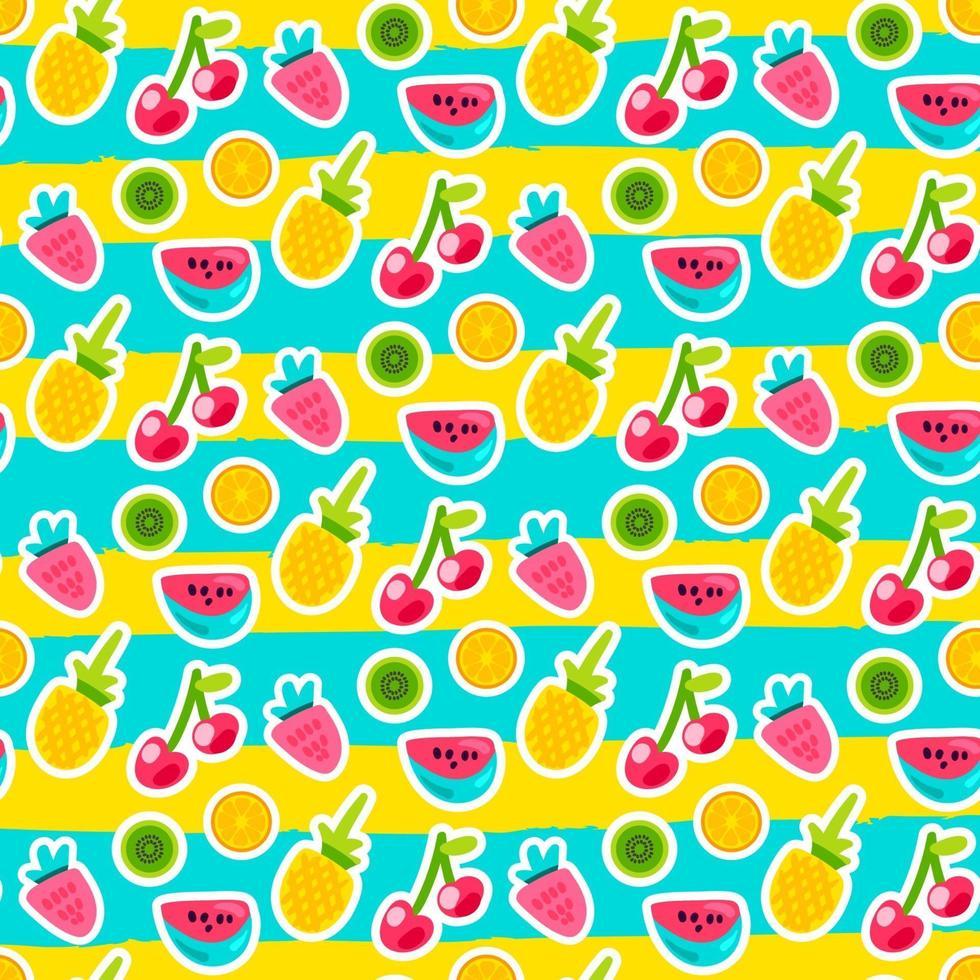 doodle frukter sömlös vektor mönster