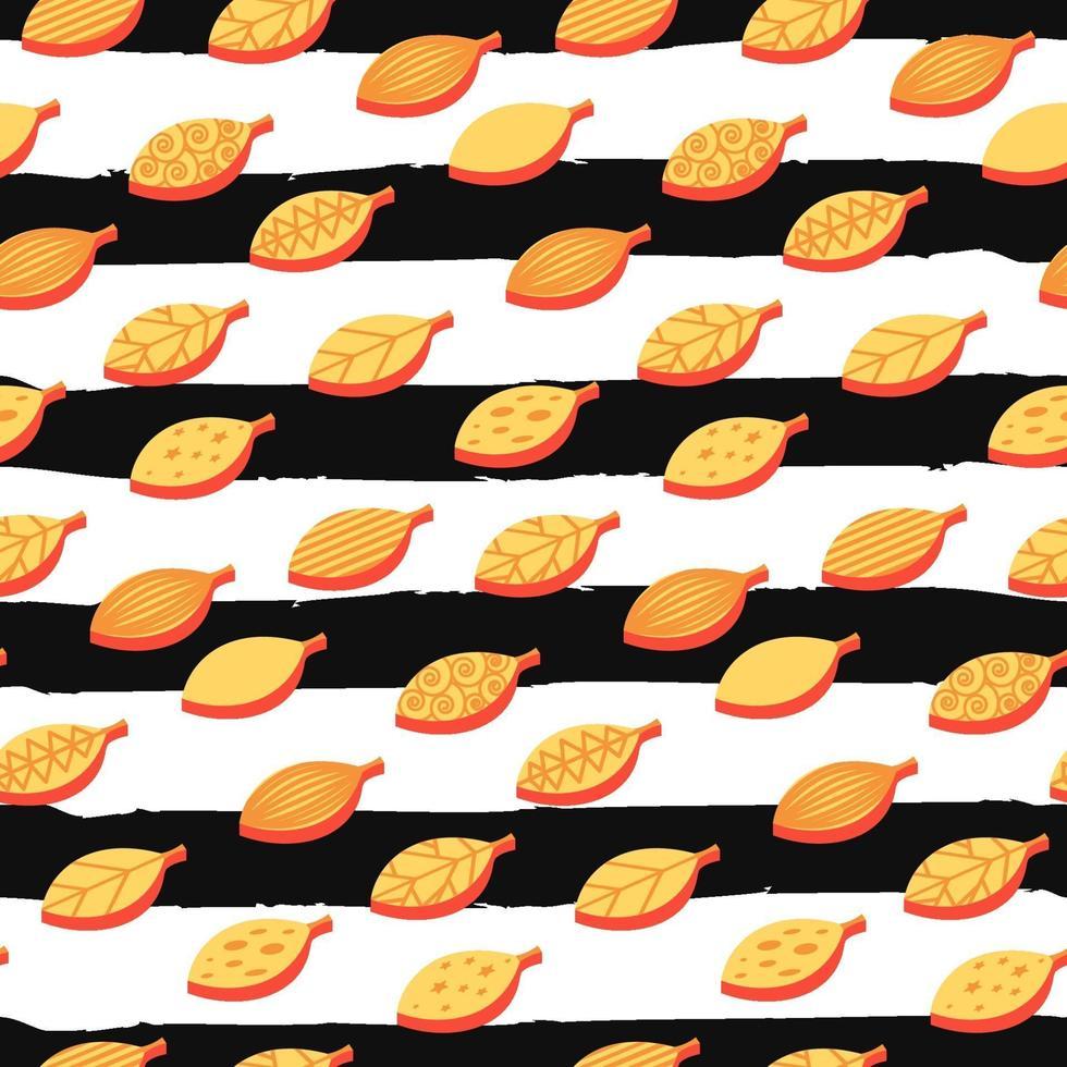 orange blad färg sömlös vektor mönster