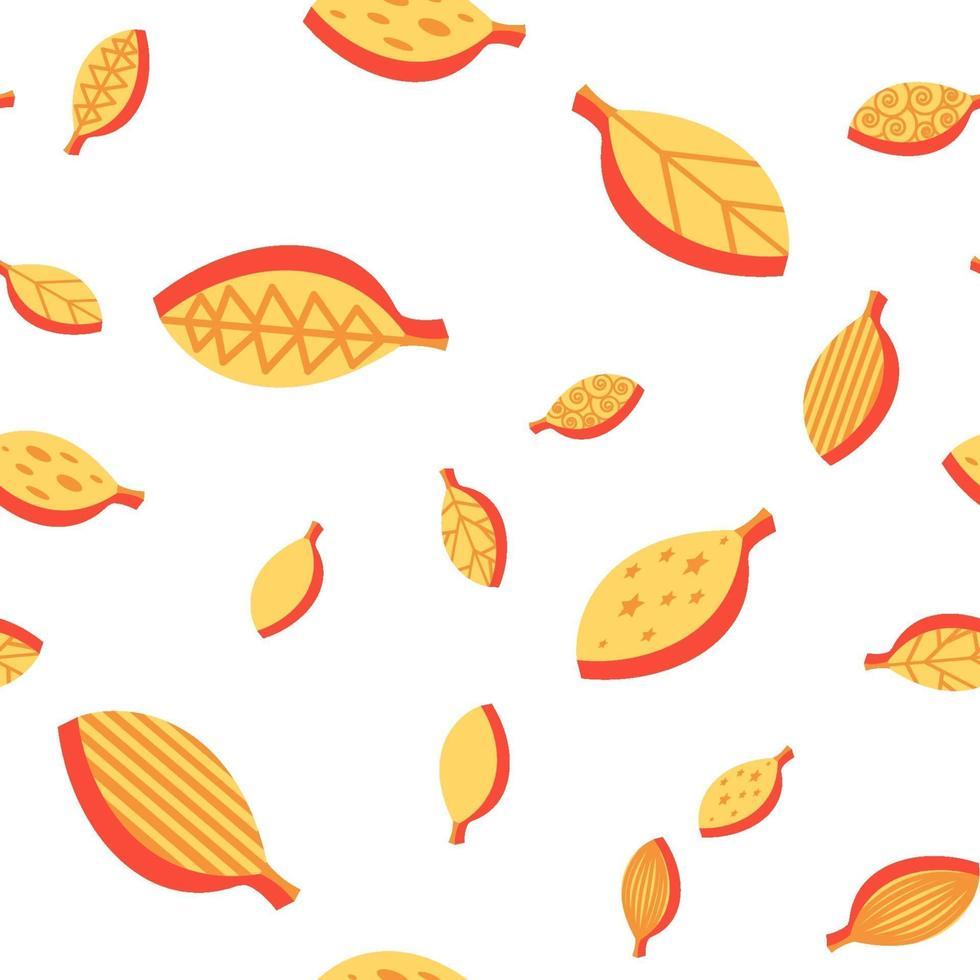 Orange Blätter färben nahtloses Vektormuster vektor