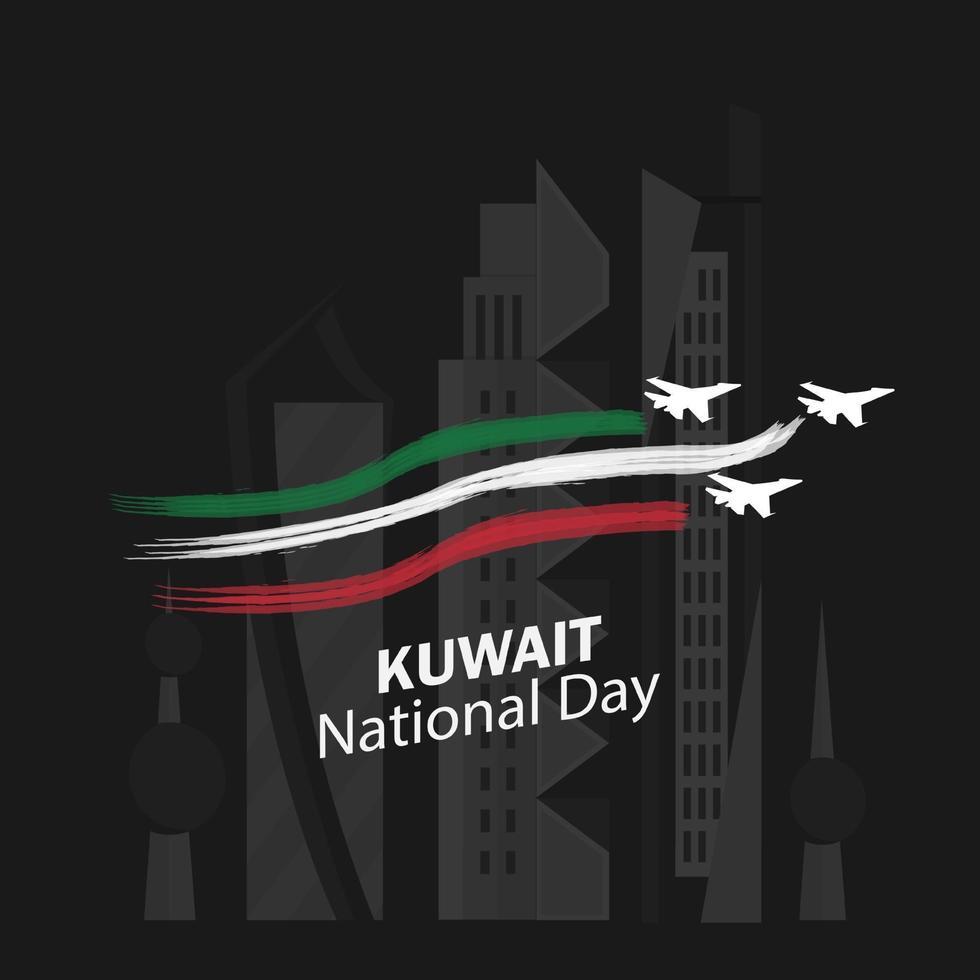 Feier des Kuwait Nationalfeiertags vektor
