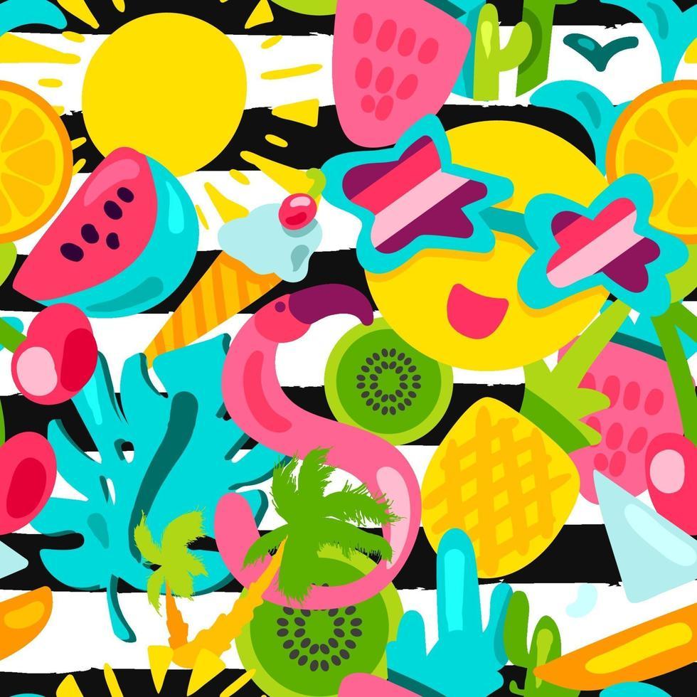 sommar färg sömlös vektor mönster