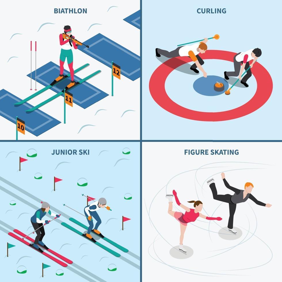 vinter sport design koncept vektorillustration vektor