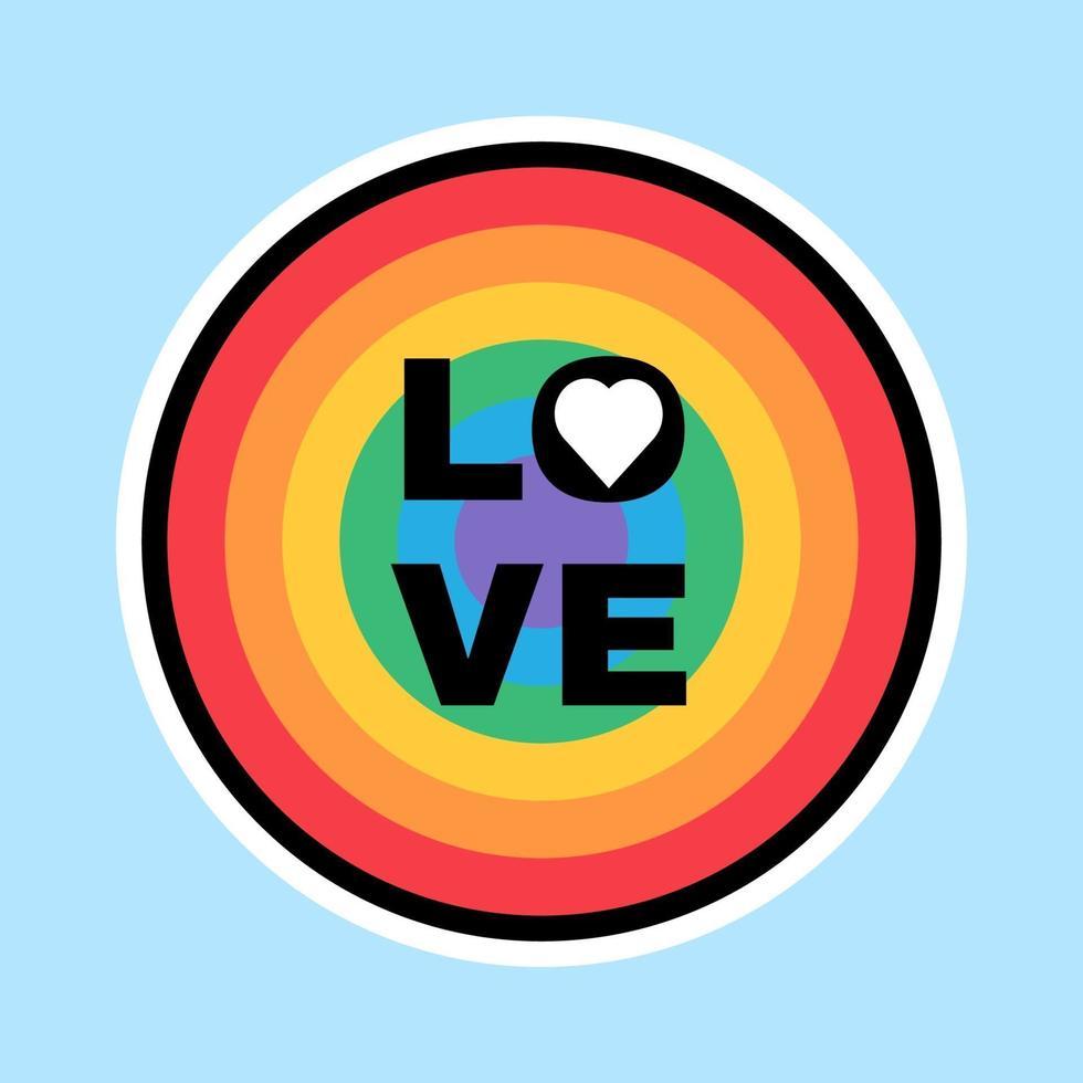 lgbtq tecken i färger av regnbågens etikett stolthet månad vektor