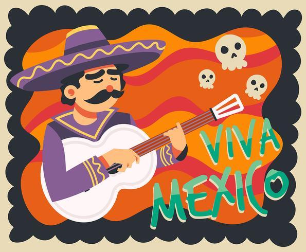 viva mexico illustration vektor
