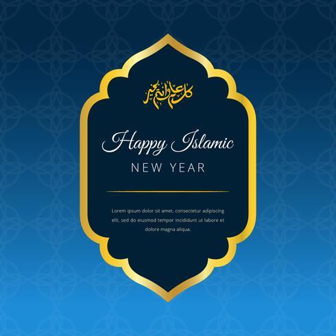 Glücklicher islamischer Vektor-Hintergrund des neuen Jahres vektor