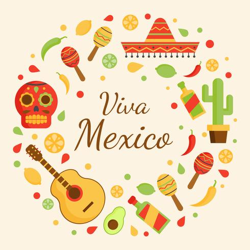 Viva Mexico Vector Bakgrund