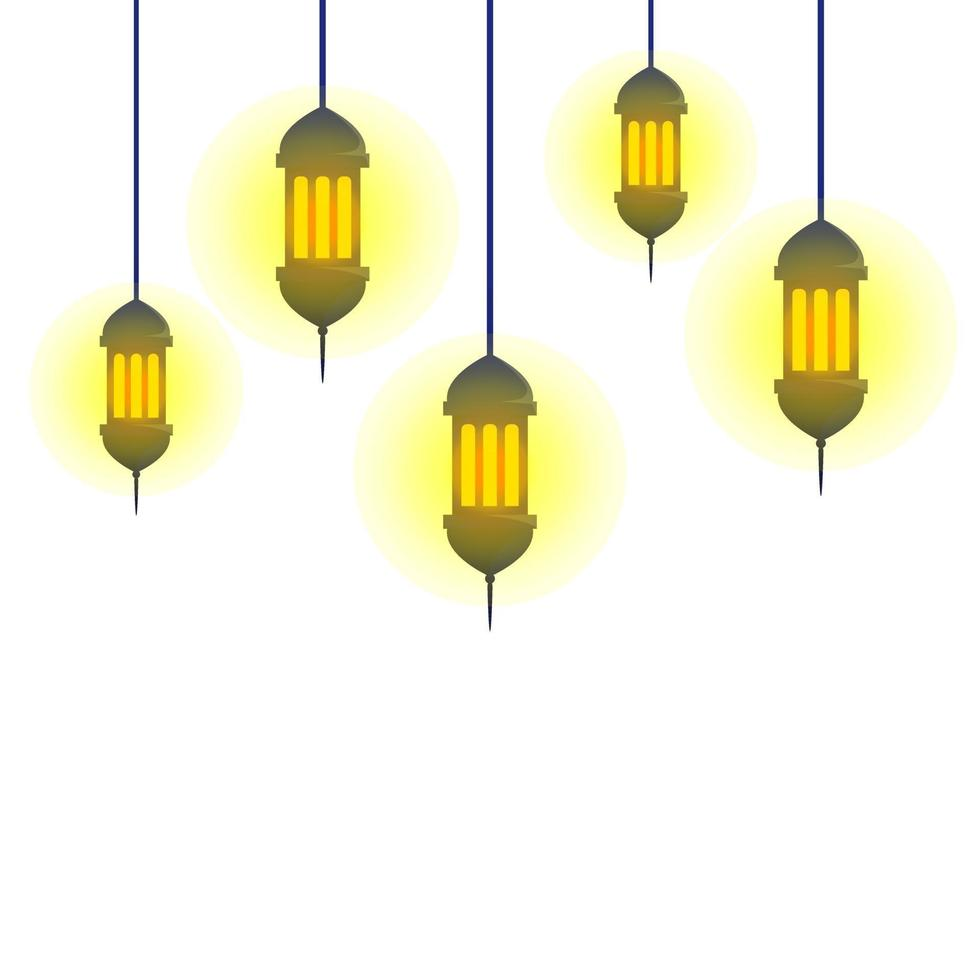vektorillustration av lykta eller lampa vektor
