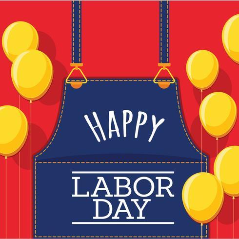 Labour Day Card Design, Vector Illustration