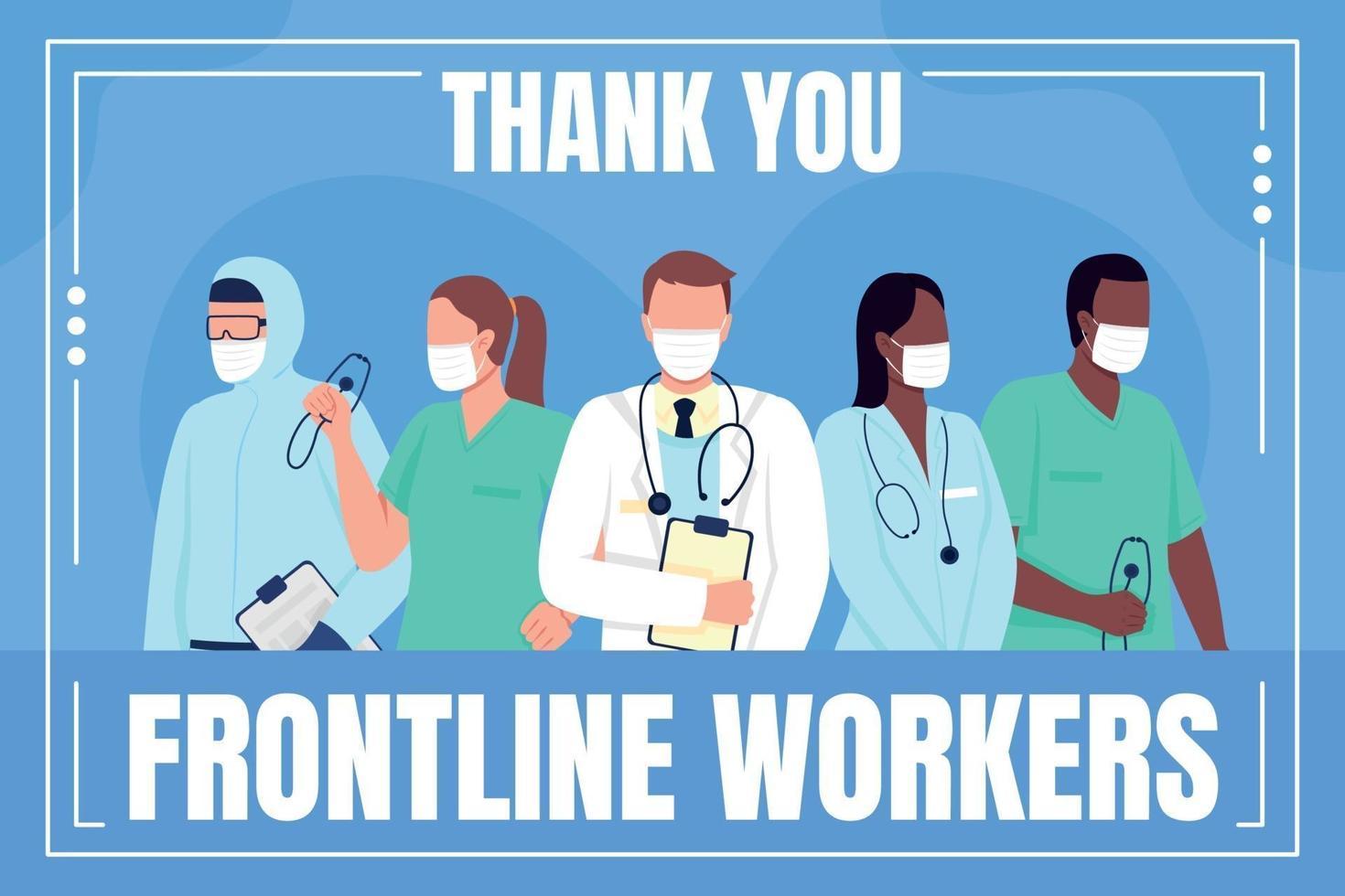 Social Frontline Worker Social Media Post Mockup vektor