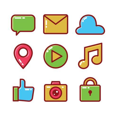 Social-Media-Icon-Set vektor
