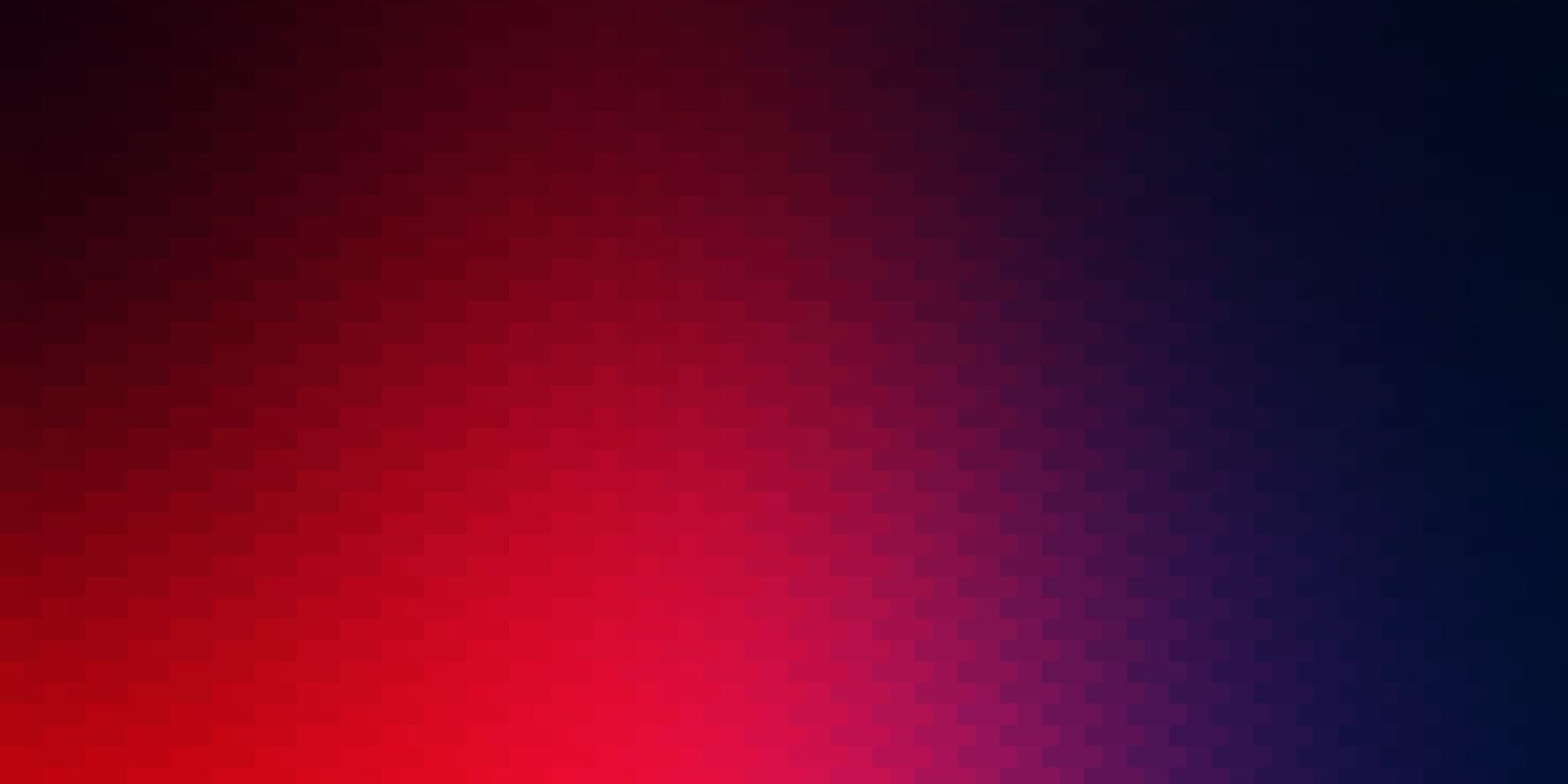 ljusblått, rött vektormönster i fyrkantig stil. vektor