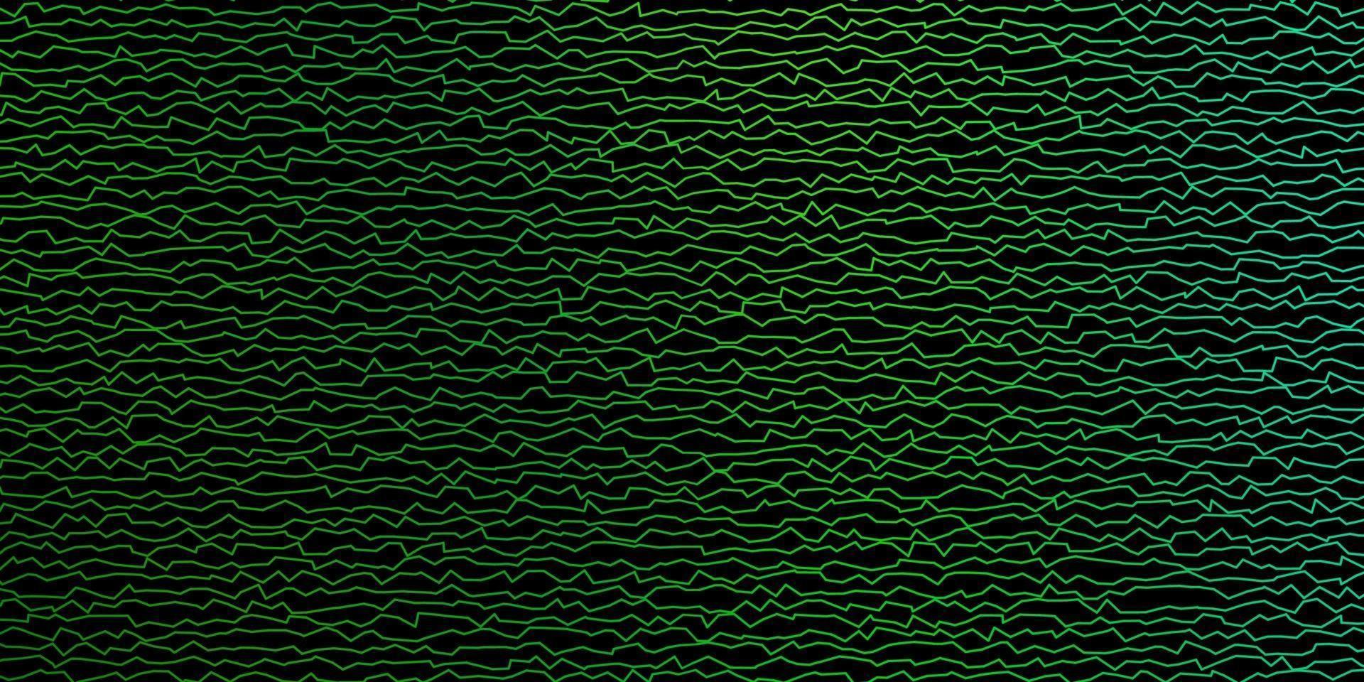 mörkblå, grönt vektormönster med linjer. vektor
