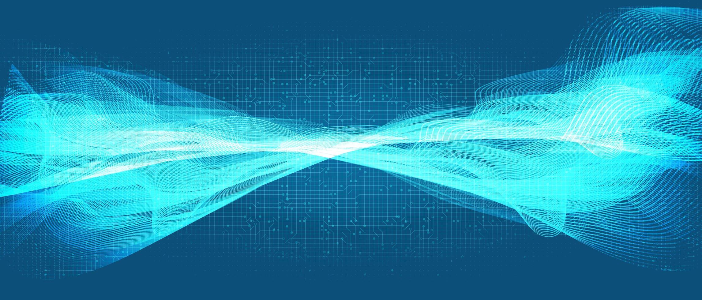 moderne Schallwellentechnologie und Erdbebenwellen- und Wellenkonzept, Entwurf für Musikstudio und Wissenschaft, Vektorillustration. vektor