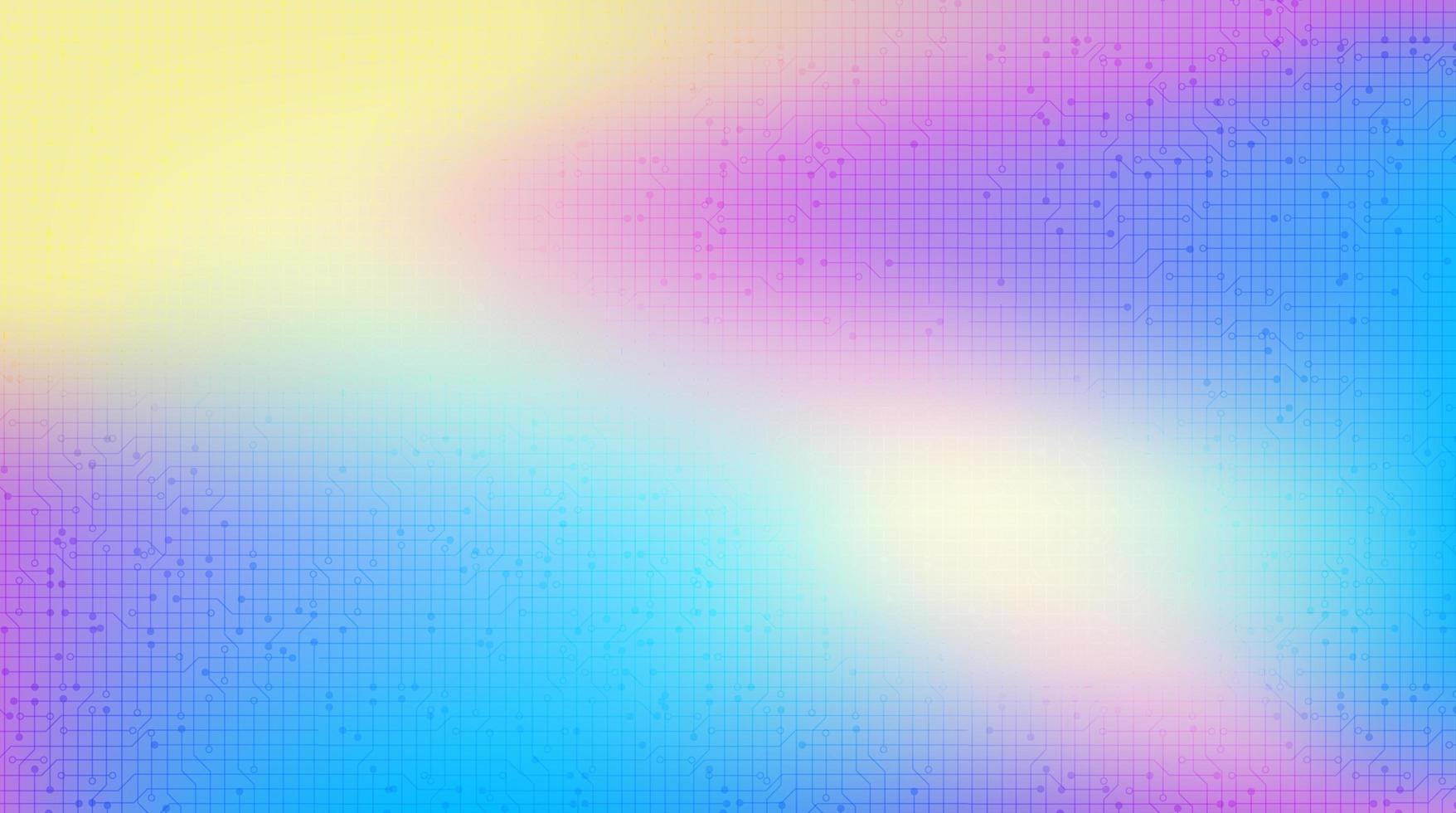ljus färgglad teknikbakgrund, högteknologisk digital och unicon konceptdesign, ledigt utrymme för text i put, vektorillustration. vektor