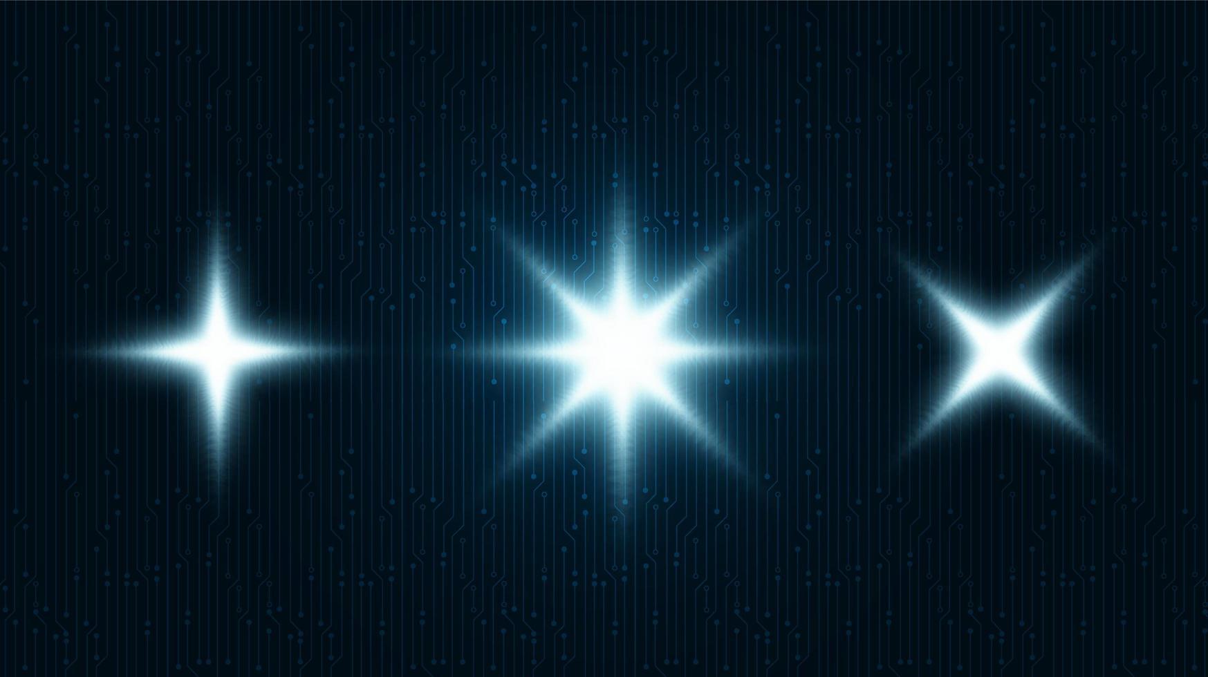digitales Lichtsymbol auf Technologiehintergrund, Hi-Tech- und Kommunikationskonzeptentwurf, freier Raum für Text in Put, Vektorillustration. vektor