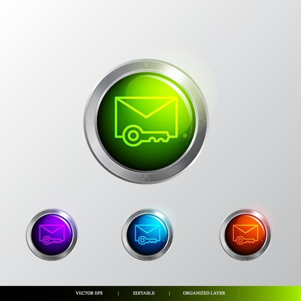 3d knapp säkerhet och privat ikon. vektor