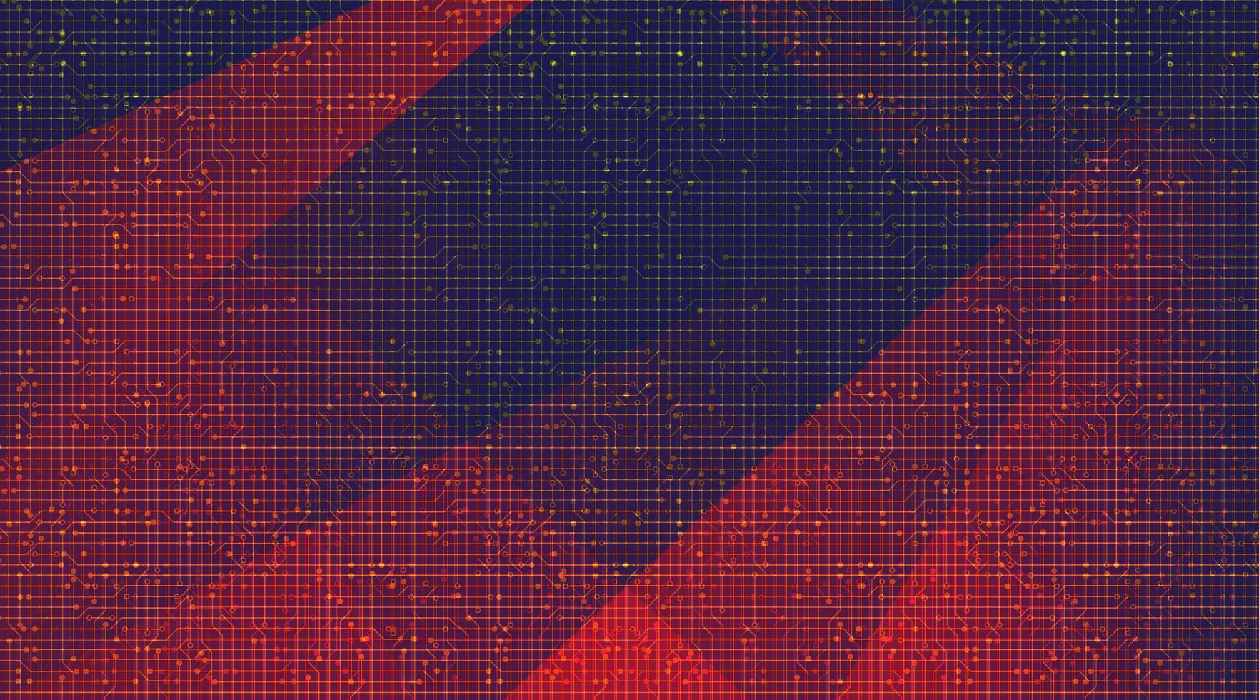 digital teknikbakgrund, högteknologisk digital och säkerhetskonceptdesign, ledigt utrymme för text i put, vektorillustration. vektor