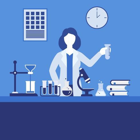 Weibliche Wissenschaftler-Vektor-Illustration vektor