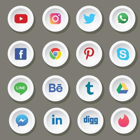 sociala medier vektor pack