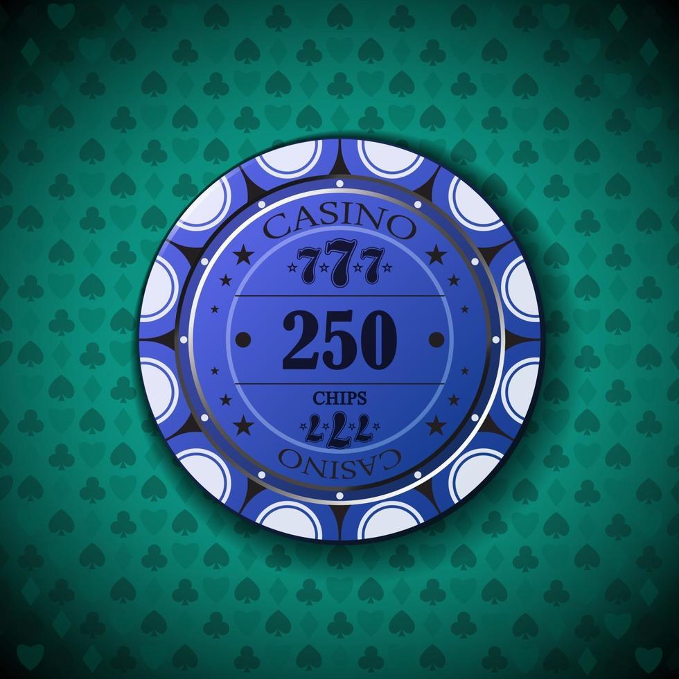 Pokerchip nya 0250 vektor