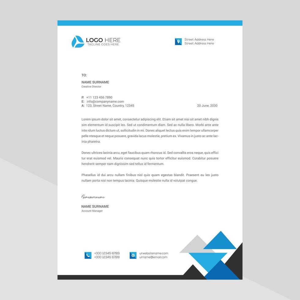 moderne Firma Briefkopf frei Vektor