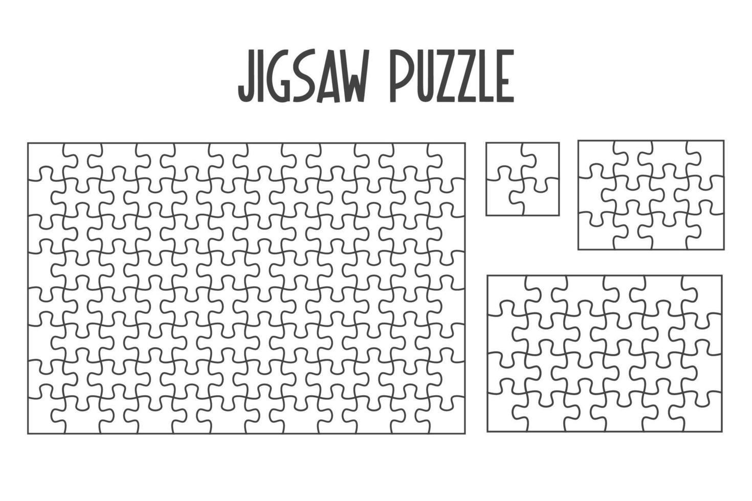 Modell-Puzzle für überlappende Rätsel im Spiel pro Bild. auf weißem Hintergrund isolieren. vektor