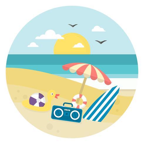 Strandlandskap vektor
