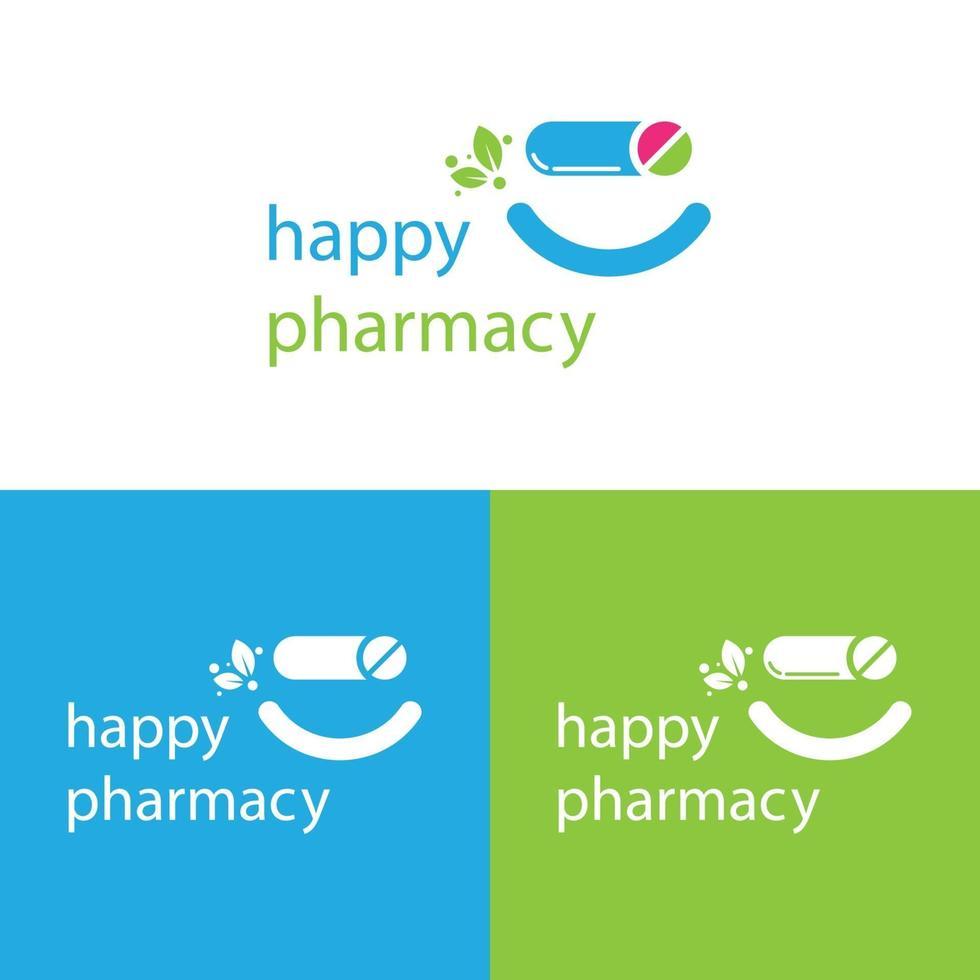 glückliche Apotheke Logo Vorlage vektor