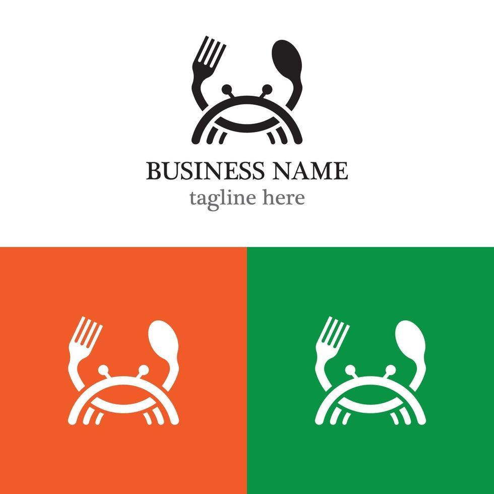 Meeresfrüchte-Logo-Schablonenikonenentwurf vektor