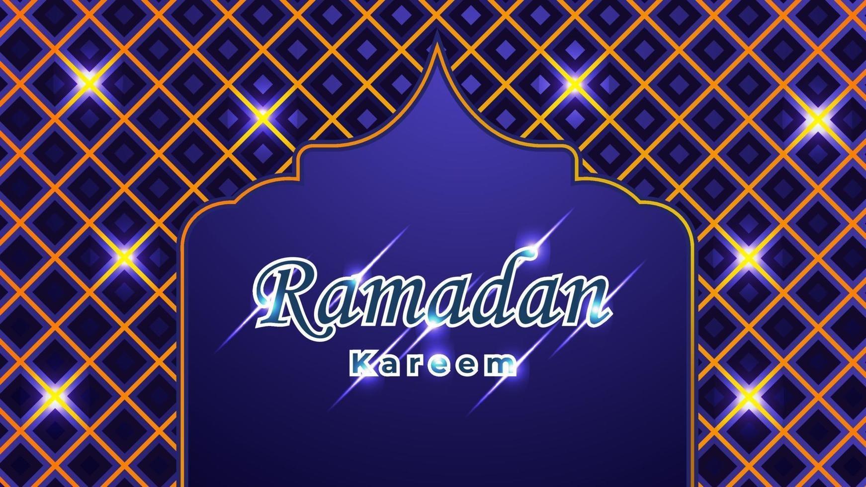 Ramadan Kareem Hintergrund mit islamischer Verzierung vektor
