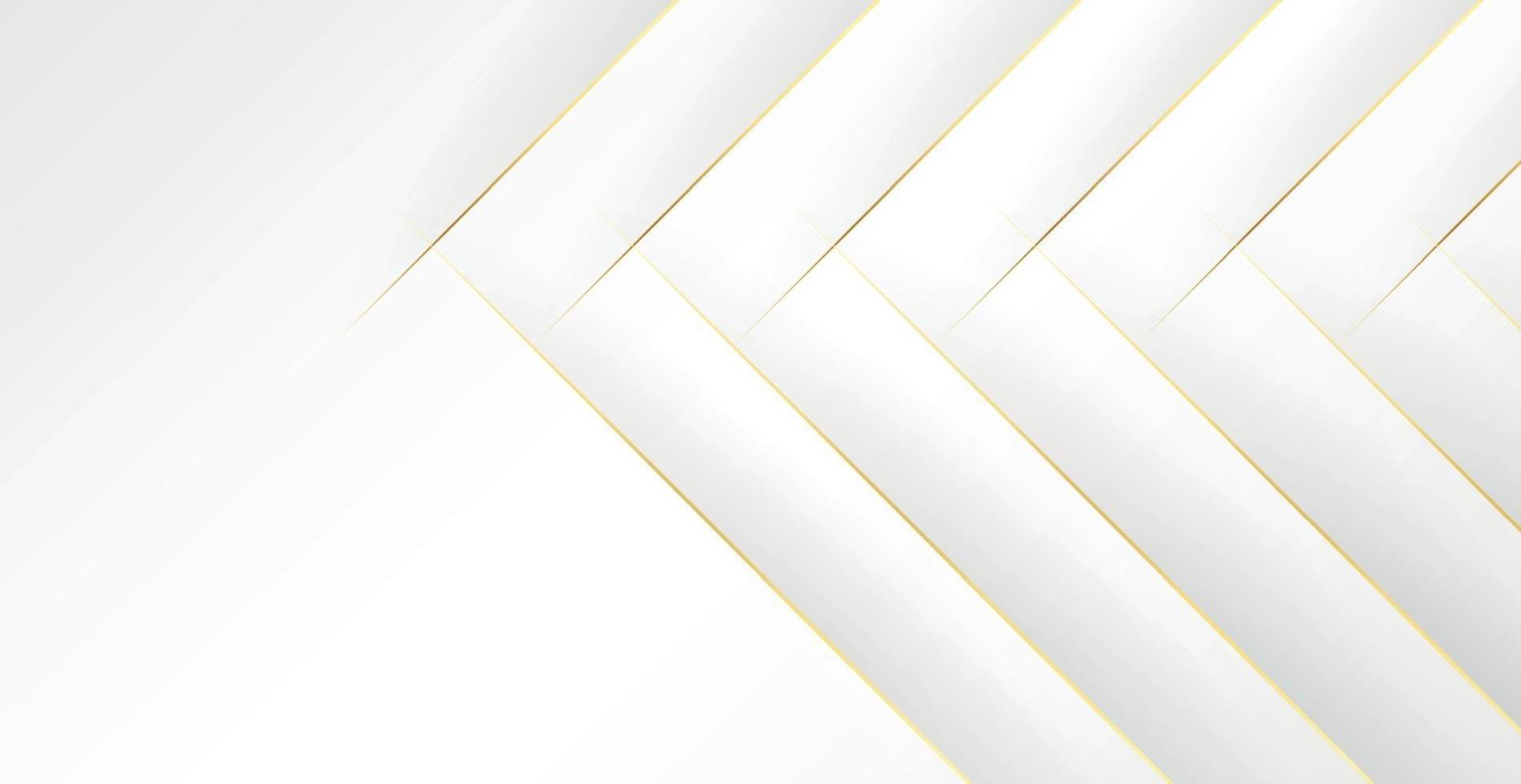 abstrakter grauweißer Hintergrund mit goldenen Linien - Vektor
