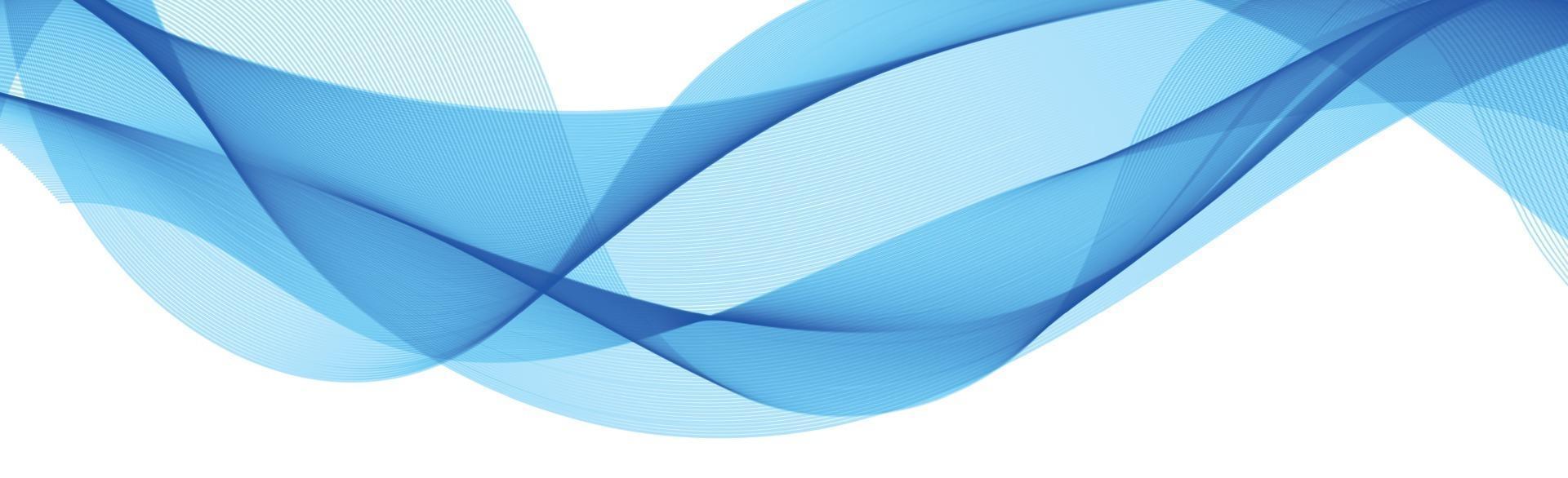 abstrakte blaue Wellenlinien auf weißem Hintergrund - Vektor