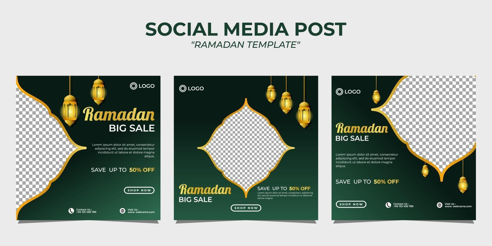 Ramadan Social Media Post Vorlage vektor