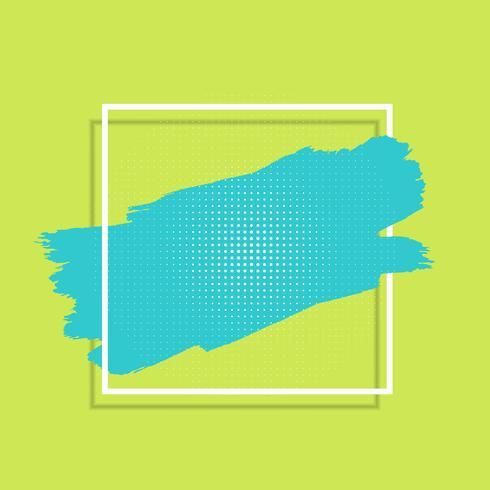 Abstrakter Hintergrund mit Farbenanschlag und weißem Rahmen vektor