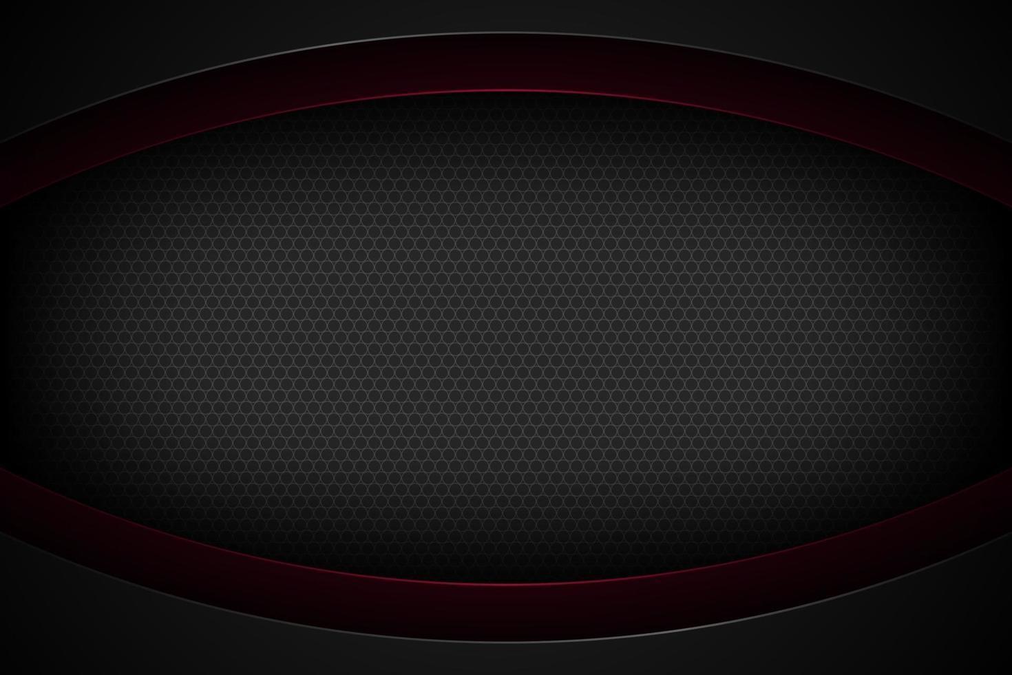 schwarzer abstrakter Vektorhintergrund mit überlappenden Eigenschaften. vektor