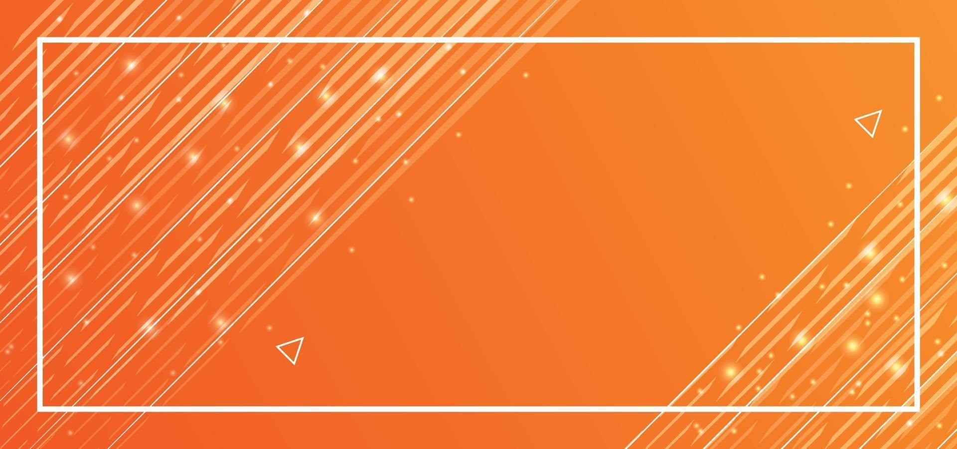 orange Linien schönen Hintergrund oder Banner vektor