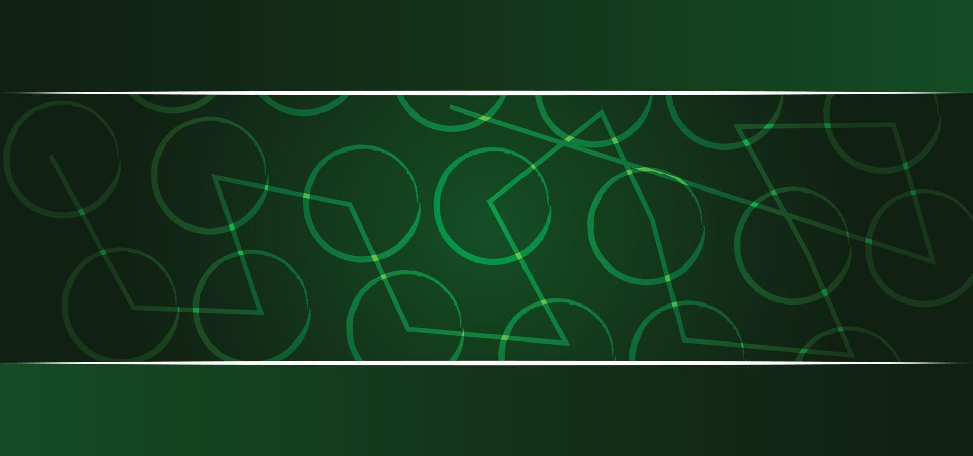grüner geometrischer Muster schöner Hintergrund oder Fahne vektor