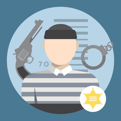 Brottslig karaktär vektor