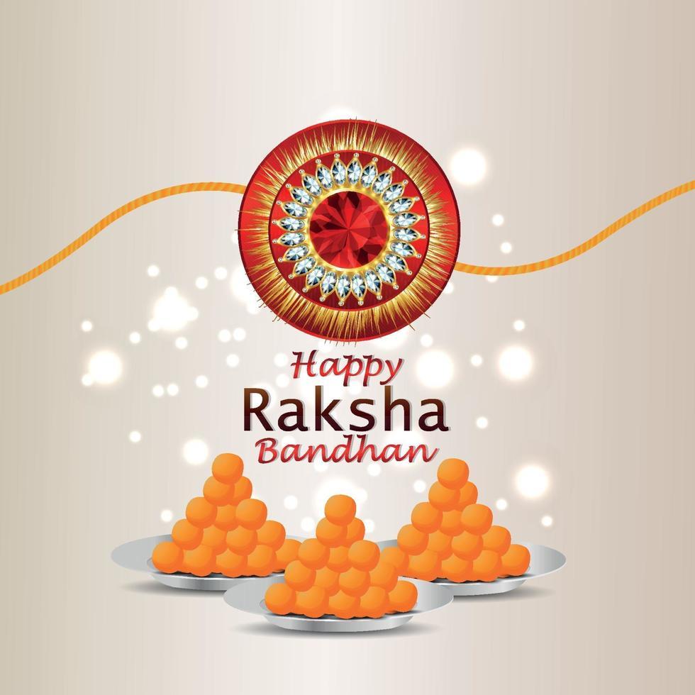lycklig raksha bandhan firande gratulationskort vektor