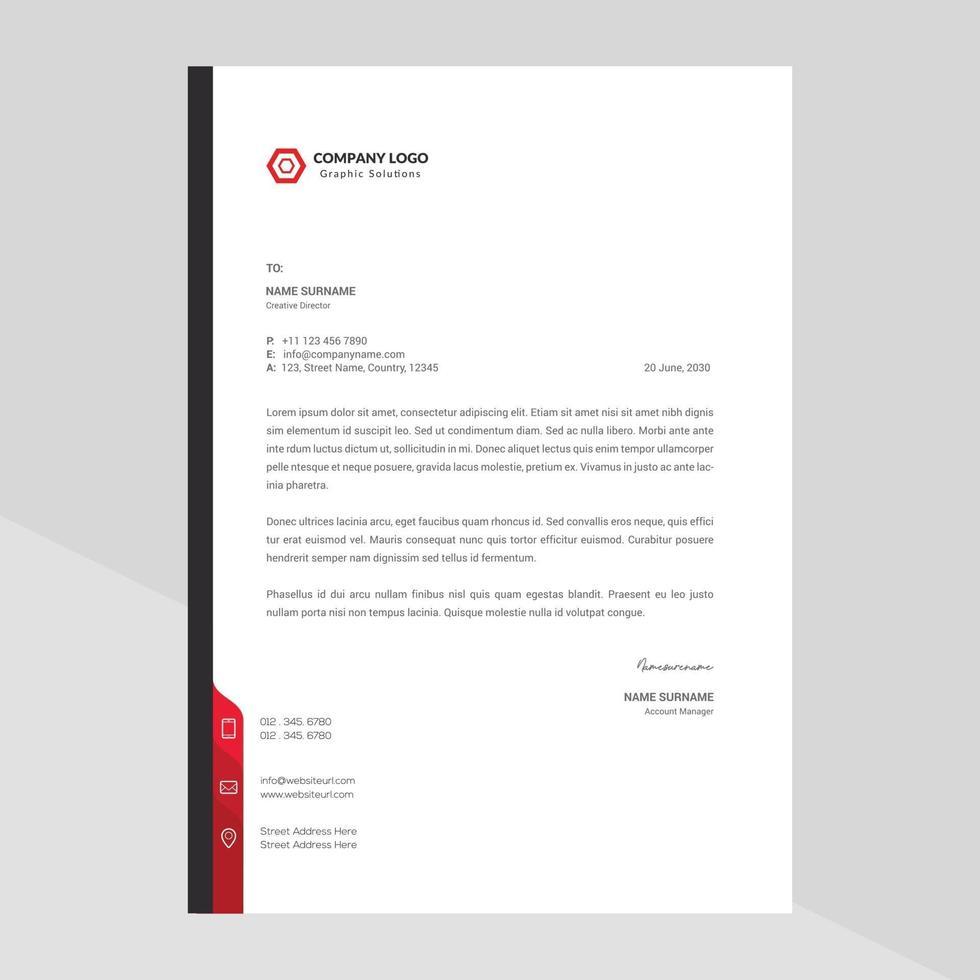elegant brevpapper mall design i minimalistisk stil gratis vektor