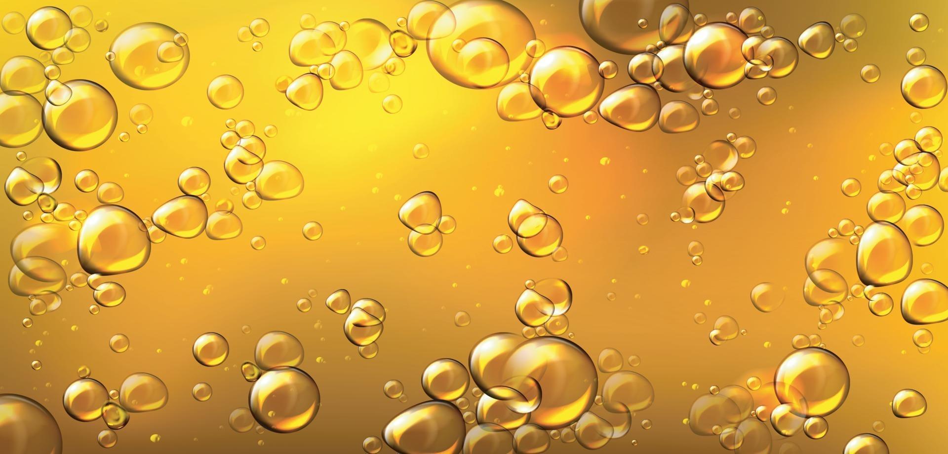 Luftblasen von Cola, Sodagetränk, Bier oder Wasser Textur abstrakten Hintergrund, transparentes Aqua mit zufällig bewegten unter Wasser sprudelnden Tröpfchen. Vektor eps 10
