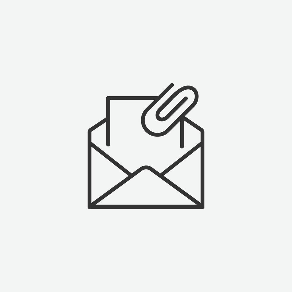 e-post vektor ikon. meddelande, sms, e-post platt stil dispositionssymbol