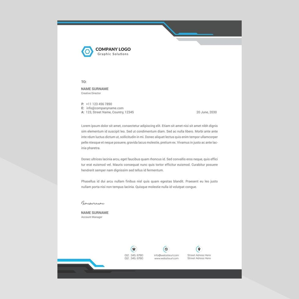 elegant brevpappermalldesign i minimalistisk stil vektor
