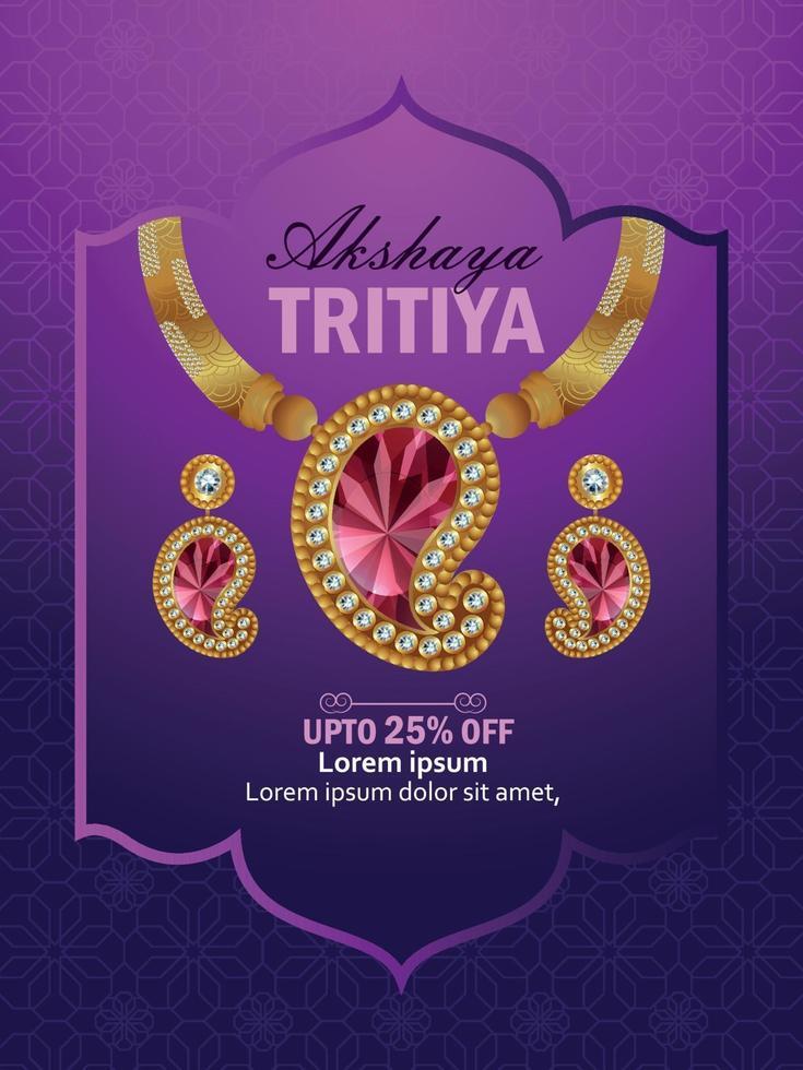 illustration av akshaya tritiya firande försäljning marknadsföring, akshaya tritiya indisk festival bakgrund vektor