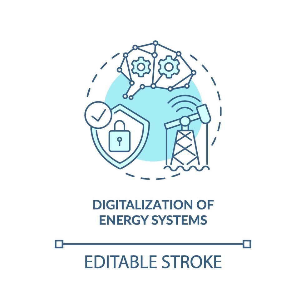 energisystem digitalisering koncept ikon vektor