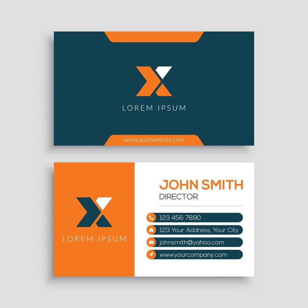 modern mall för företags visitkort vektor